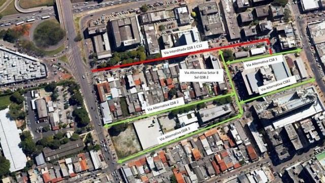 Taguatinga: Via QSB 1, Setor Central C12, será interditada neste sábado